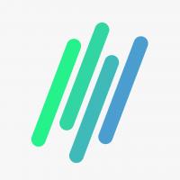 blue green Aaptiv logo