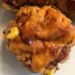 Single Mexican Turkey Meatloaf Cupcake